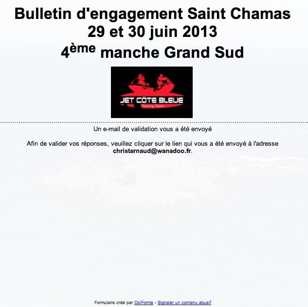 Engagement SAINT CHAMAS 2013 Bullet10
