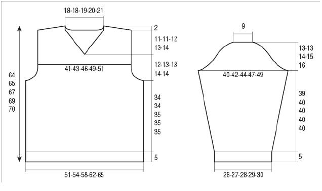 Mẫu đan áo nam M006 Chart10