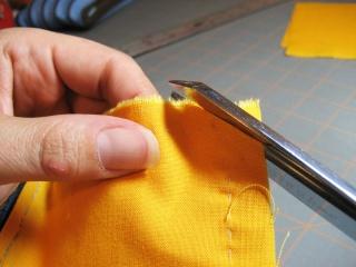 Cách may dây kéo vào ví (giỏ, túi) móc Clip-c10