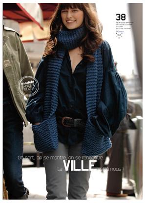 Mẫu khăn đan bằng len sợi to????? Lento110