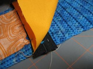 Cách may dây kéo vào ví (giỏ, túi) móc Lining10