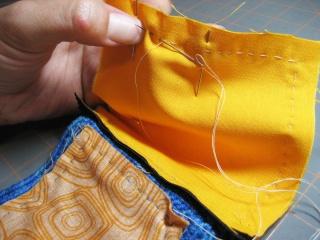 Cách may dây kéo vào ví (giỏ, túi) móc Sew-ar10