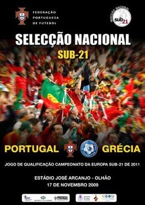 Euro 2011: A Selecção Nacional Sub-21 joga hoje com a Grécia Pg110