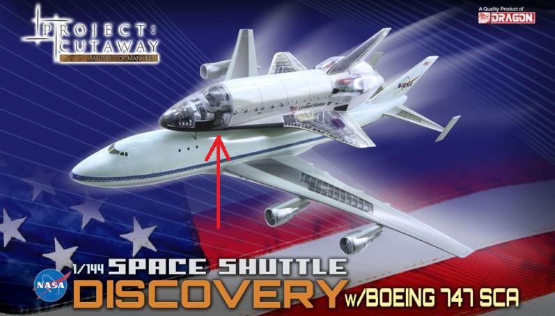 Space Shuttle Discovery cutaway w/solid rocket booster [ 1/144 Dragon] Screen85