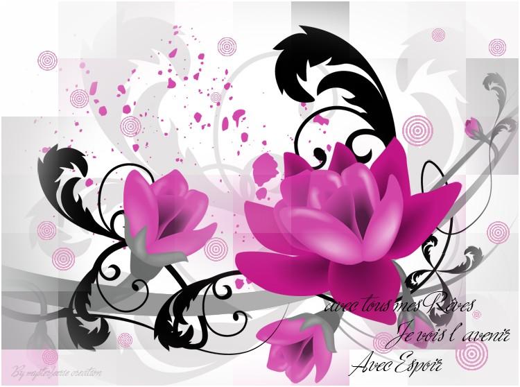 mosaïque photoshop  Fleurs10