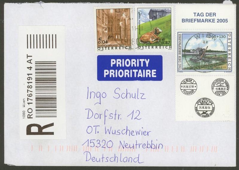 Sammlung Bedarfsbriefe Österreich ab 1945 - Seite 4 0110