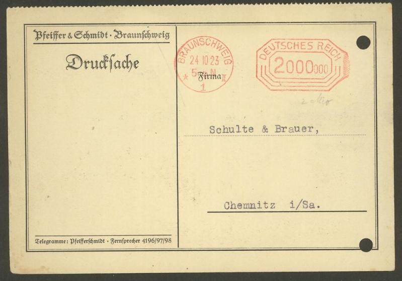 1945 - Freistempel / Absenderfreistempel Deutsches Reich (bis 1945) Brauns10