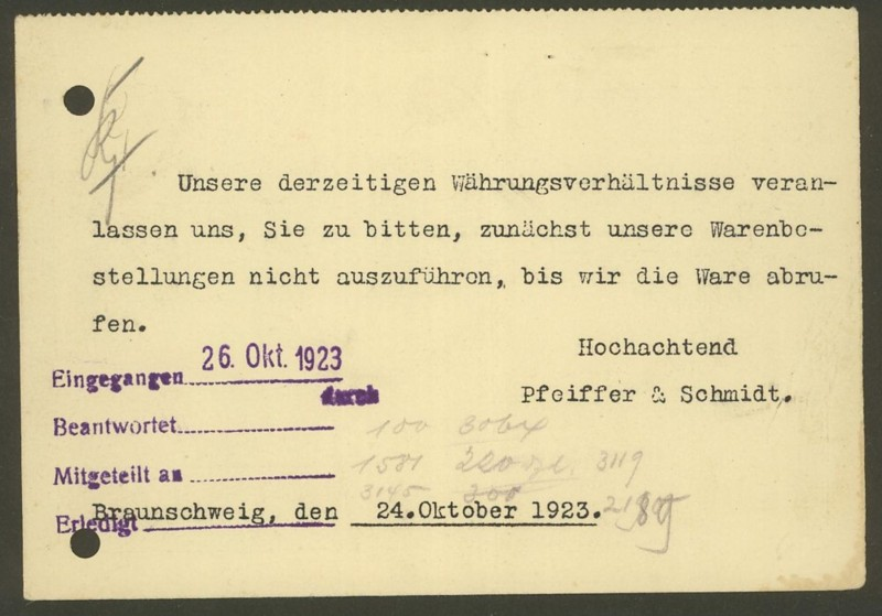 1945 - Freistempel / Absenderfreistempel Deutsches Reich (bis 1945) Brauns11
