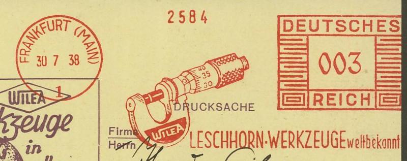 1945 - Freistempel / Absenderfreistempel Deutsches Reich (bis 1945) Frankf10