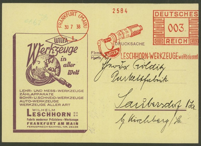 1945 - Freistempel / Absenderfreistempel Deutsches Reich (bis 1945) Frankf11