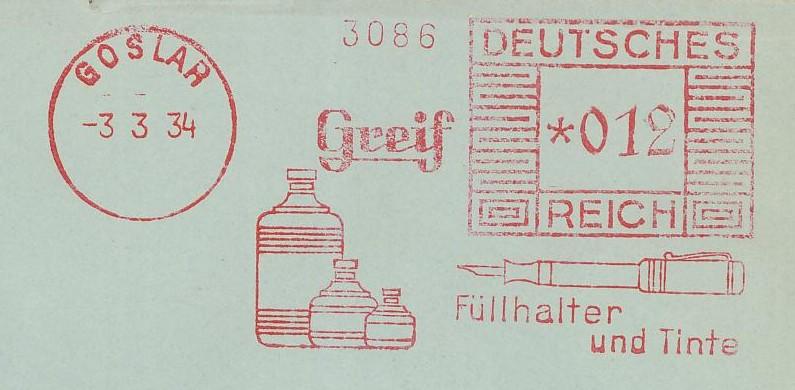 1945 - Freistempel / Absenderfreistempel Deutsches Reich (bis 1945) Goslar10