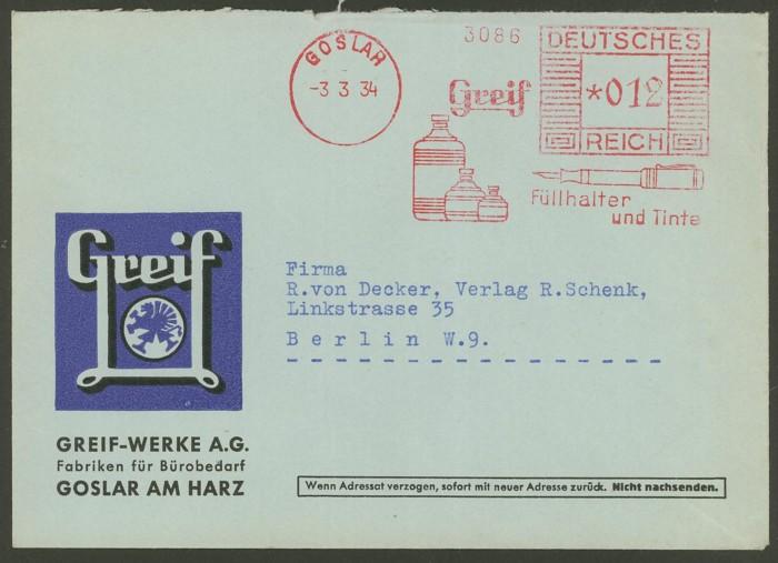 1945 - Freistempel / Absenderfreistempel Deutsches Reich (bis 1945) Goslar11