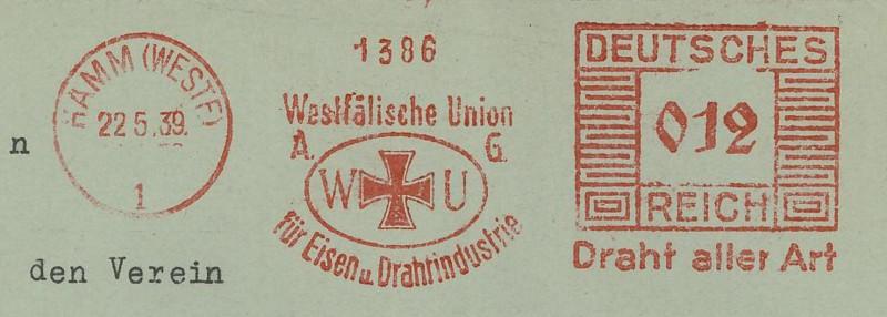 1945 - Freistempel / Absenderfreistempel Deutsches Reich (bis 1945) Hamm_210