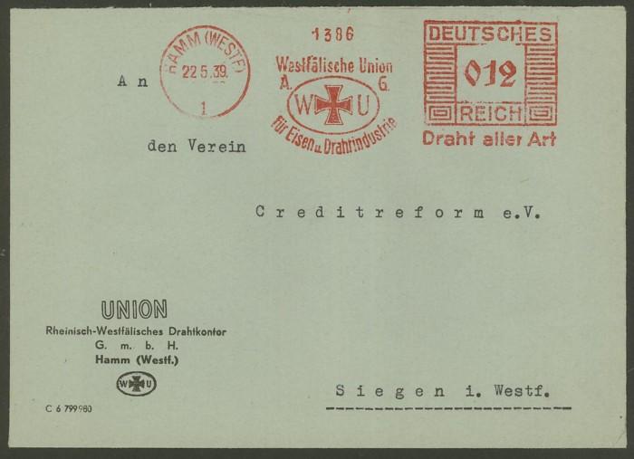 1945 - Freistempel / Absenderfreistempel Deutsches Reich (bis 1945) Hamm_211