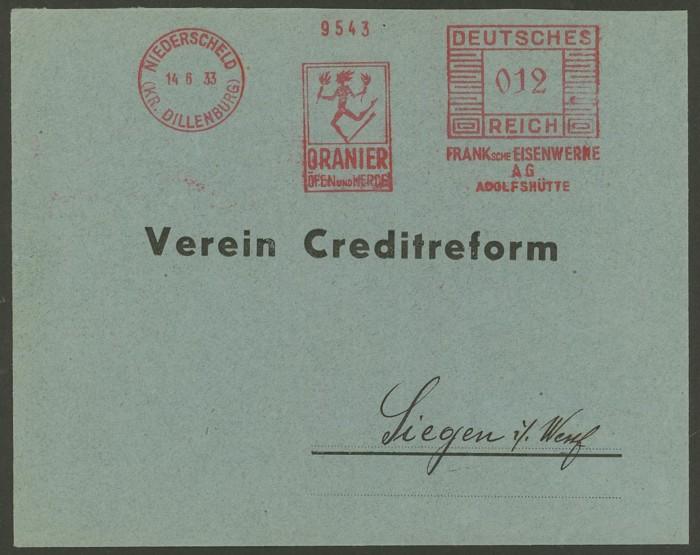 1945 - Freistempel / Absenderfreistempel Deutsches Reich (bis 1945) Nieder11