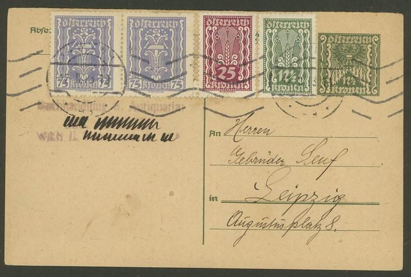 """Postkartenserie """"Quadratischer Wertstempel - Wertziffer im Dreieck"""" 1922-24 - Seite 4 P_251_10"""
