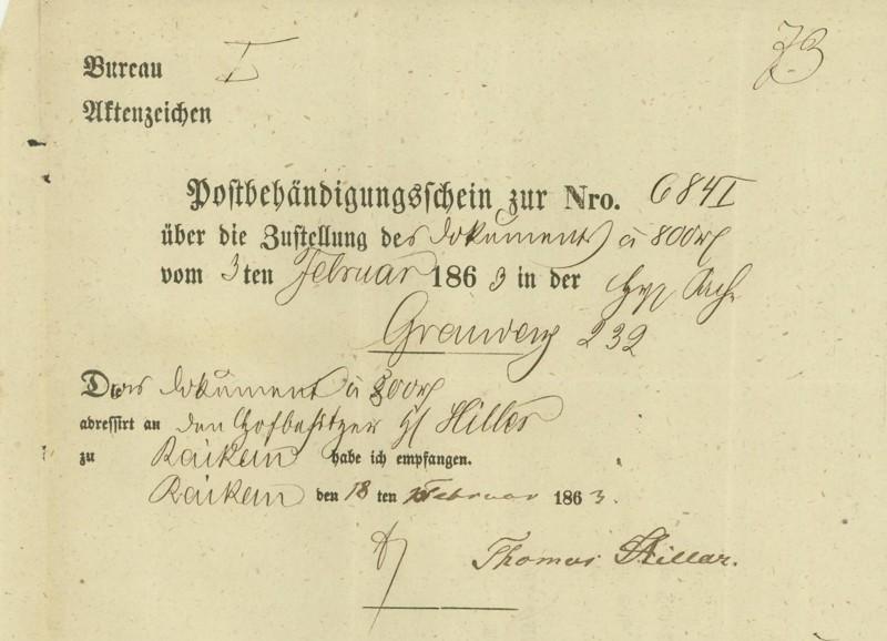Markenlose Briefe vor 1920 (ohne Feldpost) Pelpli14