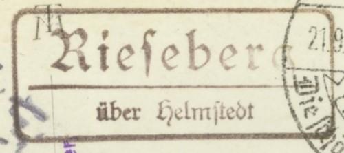 Deutschland  -  Landpoststempel (Poststellenstempel) Rieseb10