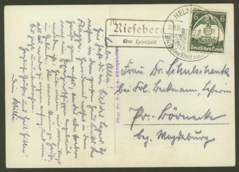 Deutschland  -  Landpoststempel (Poststellenstempel) Rieseb11