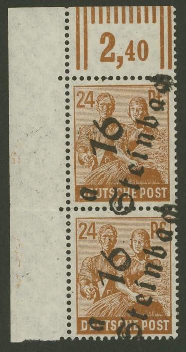 Briefmarken - Briefmarken mit durchlaufenden Markenbild Sbz_1710