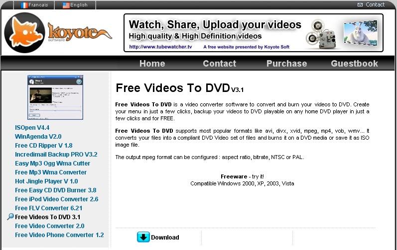 masterizzare un DVD per vederlo sulla TV Koyote10