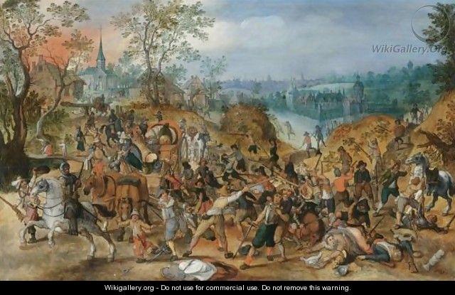 Les peintures de Sebastian Vrancx du début XVII°. Painti10