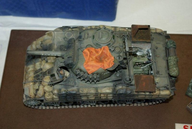 Identification trapèze à l'arrière de la plage moteur d'un Sherman S110