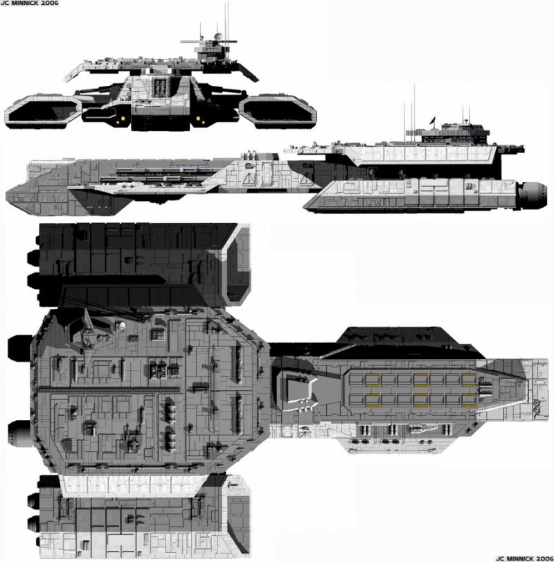 Vaisseau type BC-304 en construction Dedale12