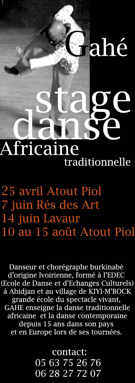 stage danse africaine Haute-Garonne et Tarn Progra10