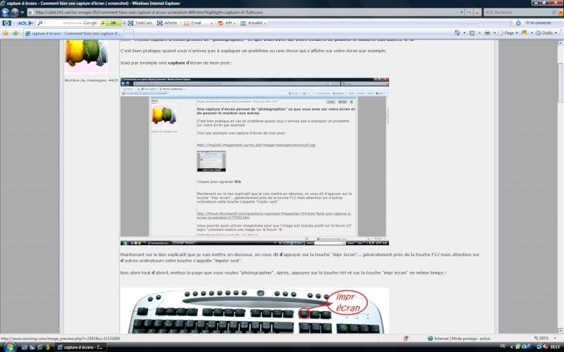 Faire une capture d 39 cran screenshot page 6 for Screenshot ecran