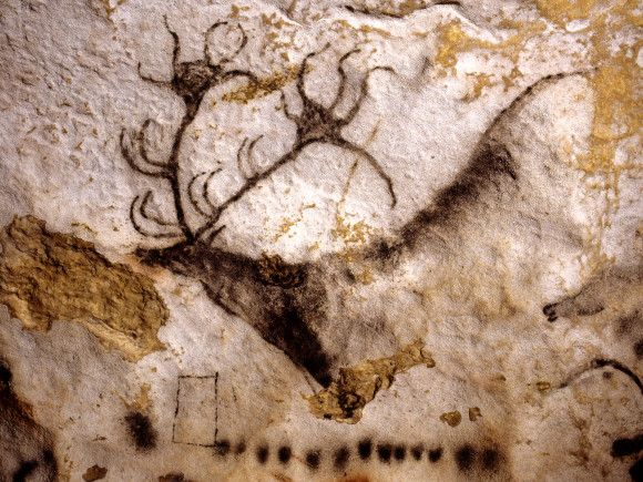 """Réaliser des peintures """"préhistoriques"""" Cerf_l10"""