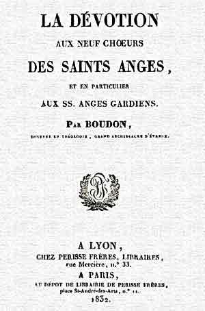 LA DÉVOTION DES NEUF CHOEURS  DES SAINTS ANGES - M. Henri-Marie Bourdon  Anges10