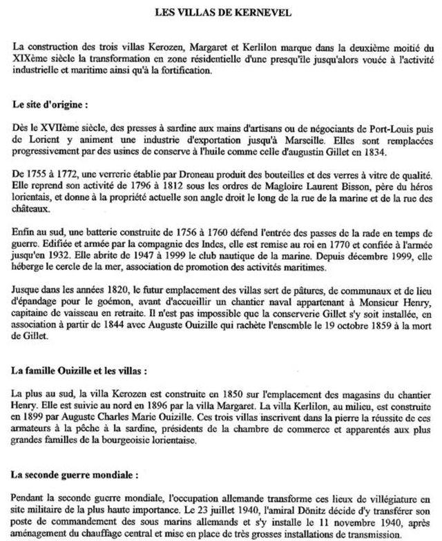 [ Histoires et histoire ] Les villas de Kernevel 159