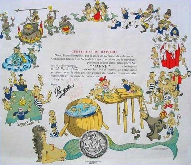 [ Les traditions dans la Marine ] Les diplômes de la Ligne Daplam10