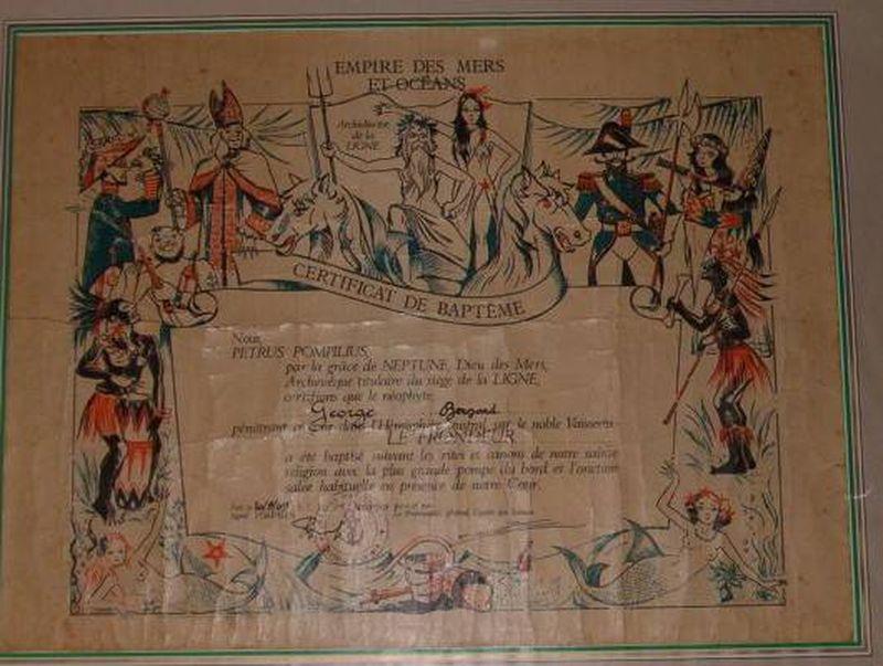 [ Les traditions dans la Marine ] Les diplômes de la Ligne Daplam11