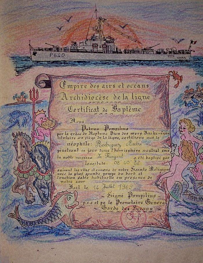 [ Les traditions dans la Marine ] Les diplômes de la Ligne - Page 2 Diplam10