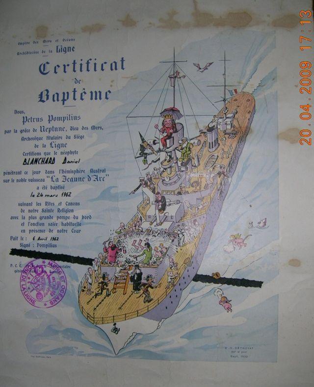 [ Les traditions dans la Marine ] Les diplômes de la Ligne - Page 3 Dscn2910