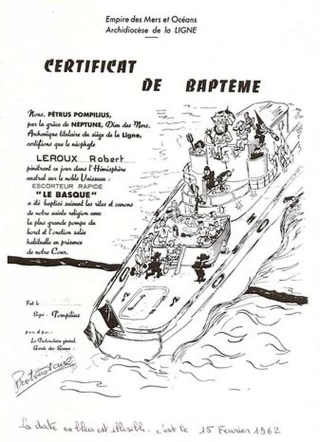 [ Les traditions dans la Marine ] Les diplômes de la Ligne - Page 2 Le_rou10