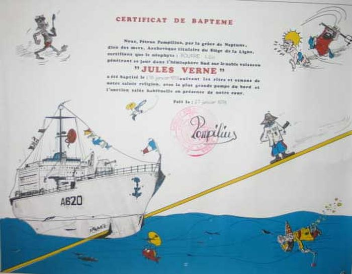 [ Les traditions dans la Marine ] Les diplômes de la Ligne - Page 2 Loick10