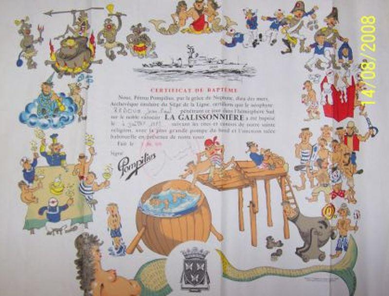 [ Les traditions dans la Marine ] Les diplômes de la Ligne Rebouh10