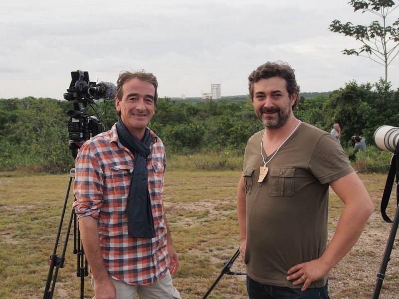 C'est pas sorcier fait escale au Centre Spatial Guyanais (tournage) Sans_t81