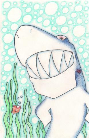 Requin et poisson rouge. Getatt12