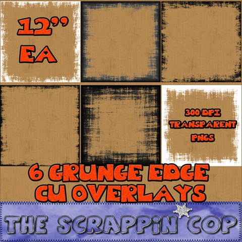 CU Grungy Edge Overlays The Scrappin Cop! Sc_cug10
