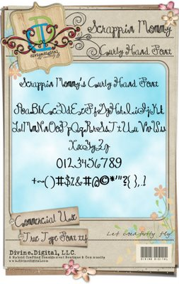 Curly Hand Font ( Scrappin Mommy Designs) Sm-cur10