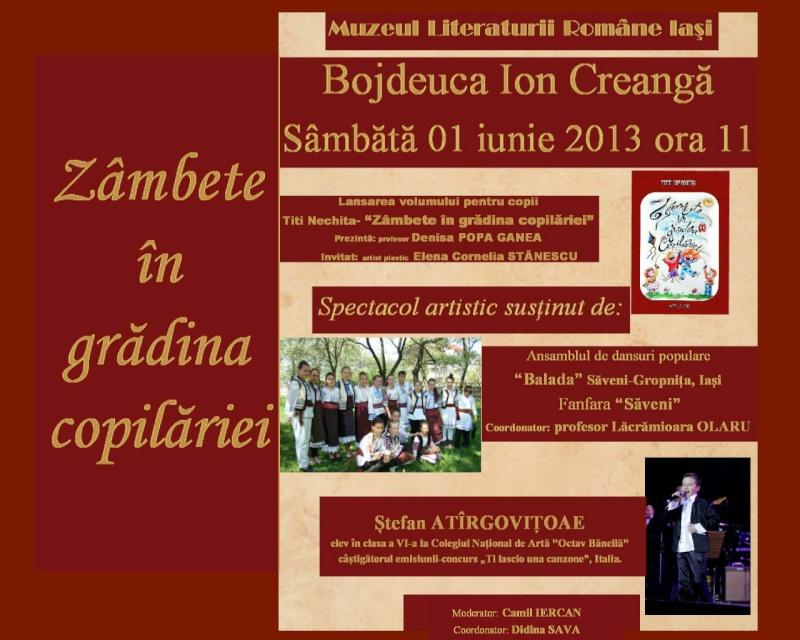 """""""Zâmbete în grădina copilăriei"""" - Lansare de carte si spectacol artistic, 01 iunie2013 Afis_e10"""
