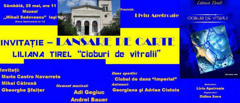 "Lansare de carte- ""Cioburi de vitralii""- Liliana Tirel- 25 mai 2013 Invita10"