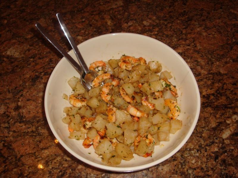 Salade de chouchoute aux crevettes persillées 2013-029