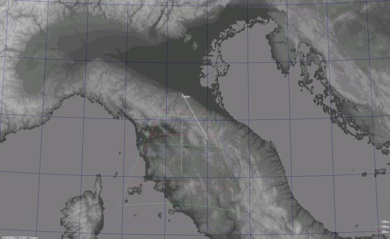 FOV dalla Croara di San Lazzaro di savena Gmap310