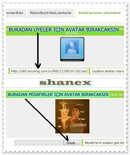RESMİ - Arkadaşlar Avatar koymayanlara otomatik olarak avatar yok resmı koymak istiyorum Shanex10