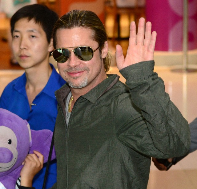 Brad and Pax arrive at Gimpo Airport..Seoul, South Korea, June 11th 2013 000015